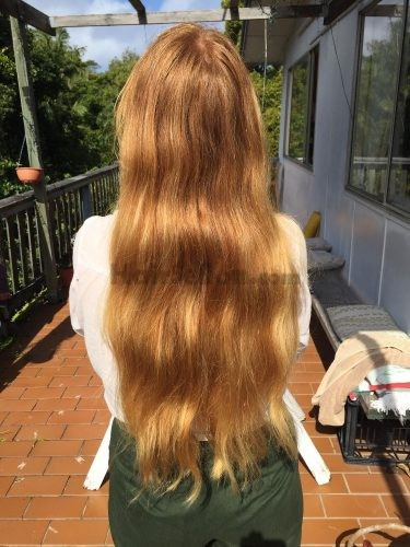 Virgin thick wavy red hair *very rare strawberry blonde ...