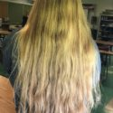 $400 OBO 12 Inches of Thick, Virgin Strawberry/Honey Blonde Hair
