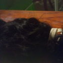 9 inches  of curly dark brown virgin  hair