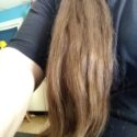 36 inches of virgin red hair