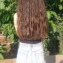 4,8 Inches thick healthy brown hair