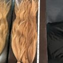 17 inches of thick virgin dirty blonde human hair