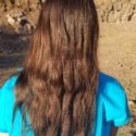 "10-11"" of Healthy Chestnut Virgin Remy Naturally Straight Caucasion Hair"