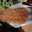 12 inches of virgin strawberry red (rare color) hair with naturally loose curls *must see!*