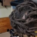 Come get 8 inches of midnight(black) virgin locs