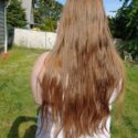 "20"" Virgin Chestnut Hair w/ Natural Red and Blonde Undertones"