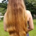 """20"""" of thick light brown hair"""
