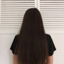 "10"" Healthy 3"" Thick Dark Brown Hair"