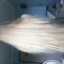 "20""+ LONG BLONDE HEALTHY SILKY VIRGIN HAIR"