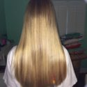 10 inches of virgin blonde thick straight hair