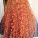 20'' of natural, curly red hair !