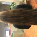Red virgin hair 24 inches long 3.5 inches thick