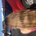 Waist length virgin golden blond hair. Willing to sell today. Medium thick, no heat styling,