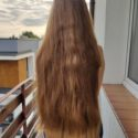 Virgin dark blonde hair, 20 inches