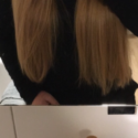 30cm blonde virgin hair. Thick and straigh