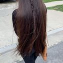 Brown healthy virgin hair 12 inches long