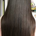 Healthy and thick Indian hair.