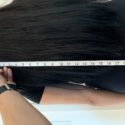 17.5/18 inches of dark brown hair