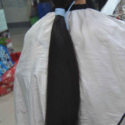 "51"" Fresh Cut Silky Black Ponytail"