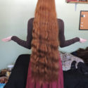 8 inches virgin red hair
