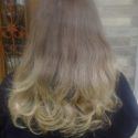 SOFT SIKLY 10 inch ASH  BLONDE HAIR. 6 inches has never been streaked or dyed. Wash once weekly.