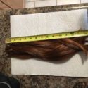 "NATURAL RED  VIRGIN HAIR 15.5"" long 3.5 inches thick"