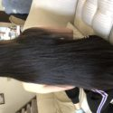 22 inches VIRGIN BLACK/BROWN HAIR