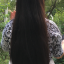 "13-15"" Virgin Asian Hair with Brown Streaks"