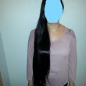 35 INCHES OF VIRGIN JET BLACK HAIR!