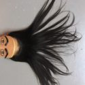 East Asian Straight Virgin Black Hair 12""