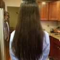 "11"" Long 3"" Thick Virgin Straight Black Hair (Asian)"