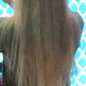 8 inches blonde virgin hair