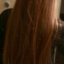 """15"""" of Naturally Straight, Virgin, Red hair... No split ends, no heat used ever."""