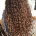 "15"" Curly Brown Virgin Hair"