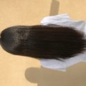 13 Inches naturally straight, strong, black virgin hair