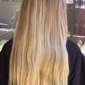 11 inches of virgin blonde hair