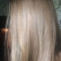 11.5 inches of Virgin, Straight & Silky Strawberry-Blonde Hair