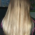 Light brown virgin hair, straight, 9""