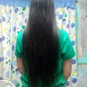 Long, silky smooth straight black hair