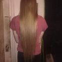 Long straight virgin blonde hair!  22 inches