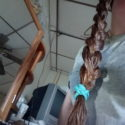 24 inches of strawberry blond very very thick hair