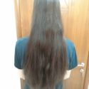 15 inches Dark Brown Virgin Hair