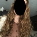 CURLY VIRGIN RED-BLONDE HAIR 10 INCHES