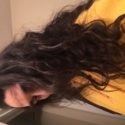 28 inches of virgin black mexican american hair.