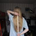 "Virgin GOLD BLOND hair 14"" long, 4"" thick. Ship worldwide."
