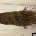 10+ inches of light brown virgin hair with natural highlights