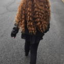 Beautiful Naturally Curly Golden Brown Birgin Hair