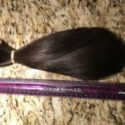 Very thick 12 inch straight black hair. NEVER dyed, bleached, permed or used hair straightener.