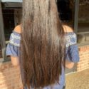 18 inches Brown Straight Hair